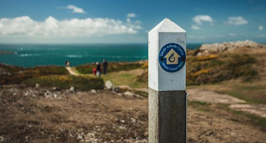 Wales Coast Path waymarker